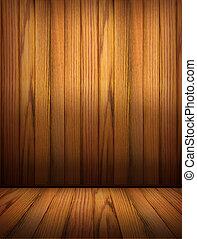 背景, 木制, 房間, 內部, design.