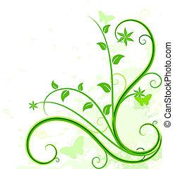 背景。, 綠色, 植物