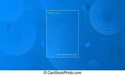 背景, 輪, 藍色, 摘要, 明亮, shapes.