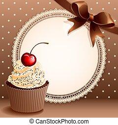 背景, cupcake