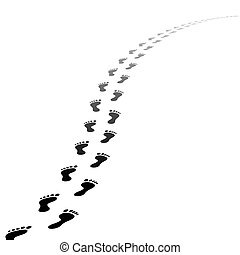 腳, 小徑, 矢量, 軌道