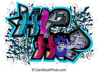 臀部, graffiti, 蛇麻草, 簽署