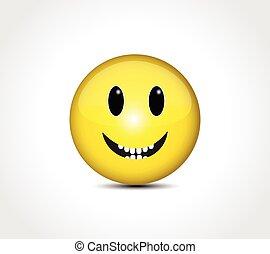 臉, 愉快, emoticon, 微笑, 按鈕