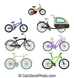 自行車, 套間, 集合, style.