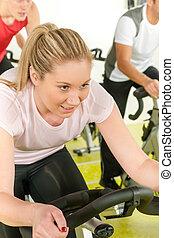 自行車, 旋轉, 婦女, 年輕, 類別
