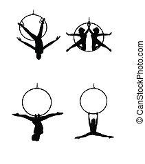 舞蹈家, 空中