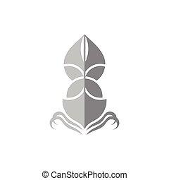 航行, 符號, 陰影, 設計, 小船, 標識語, 矢量