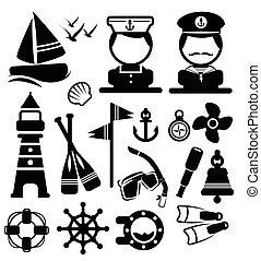 船舶, 矢量, 集合, 圖象