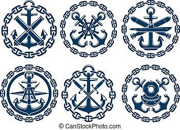 船舶, 象征, 陸戰隊, 圖象