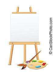 色板顯示, 畫架