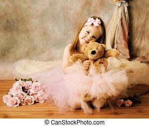 芭蕾舞女演員, 很少, 美麗