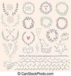 花冠, 植物, fr, 集合, 月桂樹