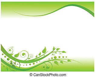花卉疆界, 綠色, 插圖
