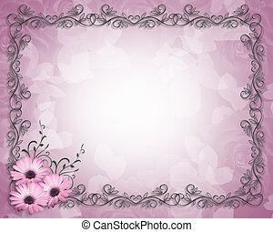 花卉疆界, 雛菊, 樣板, 紫色