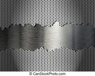 花格, 金屬, 銀, 背景