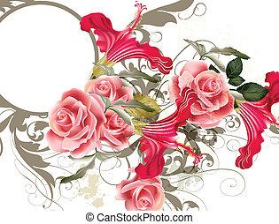 花紋花樣, 矢量, 時裝