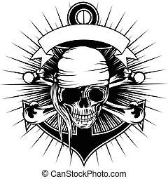 花色絲質大手帕, 海盜, 頭骨