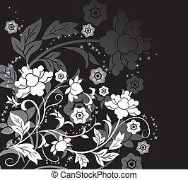 花, 元素, 設計, 背景