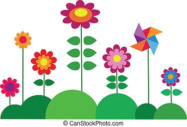 花, 春天, 鮮艷