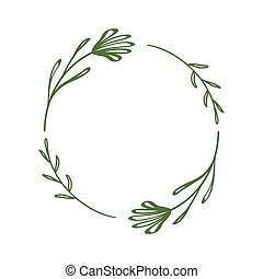 花, 最簡單派藝術家, 摘要設計, 卡片, 簡單, circle., 離開, flowers., 矢量, 標簽, style., 框架, 邊框, 問候, tag., 線性, 花冠, 邀請, 植物, 末梢, 裝飾, 雅致