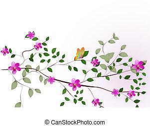 花, 樹枝