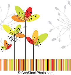 花, 鮮艷, 摘要, 春天, 條紋, 背景