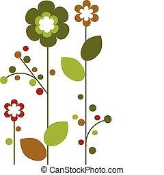 花, 鮮艷, 摘要, 春天, 設計, -2, 花