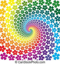 花, 鮮艷, 螺旋, 背景