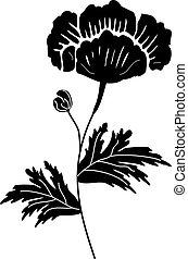 花, 黑色