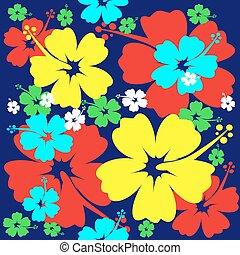 花, seamless, 芙蓉屬的植物, 背景