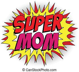 英雄, mommy, 母親, 超級, 天, 愉快