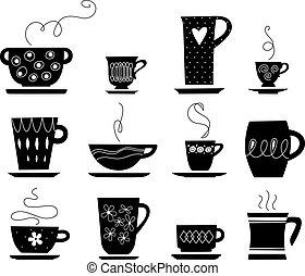 茶咖啡, 或者, 杯子
