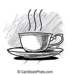 茶咖啡, -, 杯子
