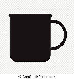 茶咖啡, 茶杯圖象