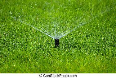 草地洒水裝置