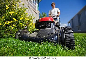 草坪, 刈草