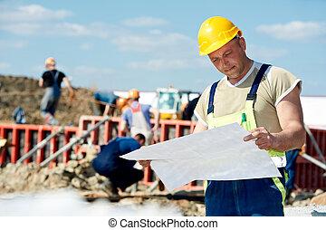 草稿, 建設, 建造者, 站點, 工程師