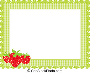 草莓, 方格花布, 框架