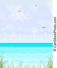 草, 海, 記憶