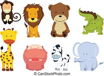 荒野, 卡通畫, 動物