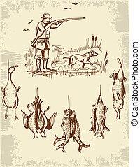 荒野, 獵人, 動物