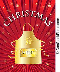菜單, 聖誕節, 紅色