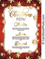 菜單, 設計, 聖誕節