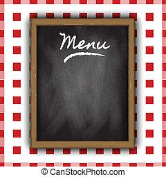 菜單, 設計, 黑板