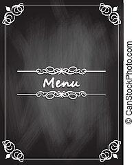 菜單, 黑板, 設計