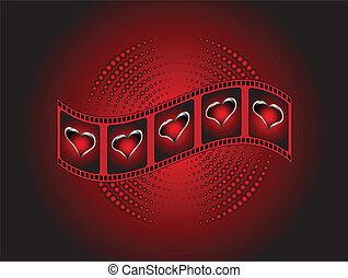 華倫泰, 紅的背景, 剝去, 心, 銀, 電影