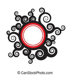 葉子, 徽章, swirly