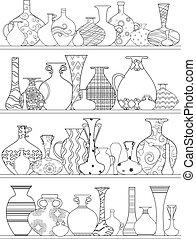 著色, 架子, 瓶, 裝飾品, 書, 种族, 你