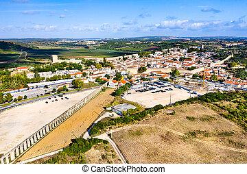 葡萄牙, 高架渠, 看法, obidos, 空中, usseira