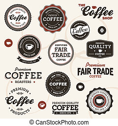 葡萄酒, 咖啡, 標籤